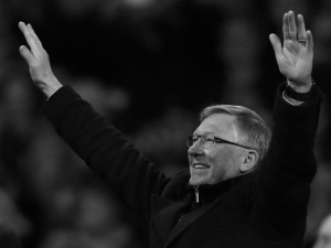 Fergie wave. Sir Alex. Gary Chaplin